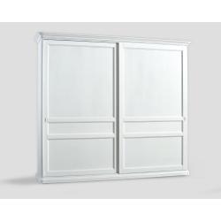 Dwudrzwowa szafa z przesuwnymi drzwiami - biała DB004656