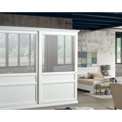 Dwudrzwowa szafa z przesuwnymi drzwiami - biała DB004655