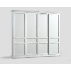 Czterodrzwowa szafa z przesuwnymi drzwiami - biała DB004654