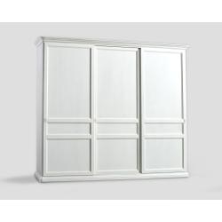 Trzydrzwowa szafa z przesuwnymi drzwiami - biała DB004652