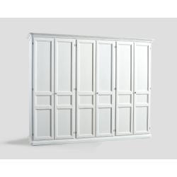 Sześciodrzwowa szafa - biała DB004650