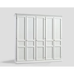 Pięciodrzwowa szafa - biała DB004649