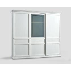 Trzydrzwowa szafa z przesuwnymi drzwiami - biała DB004651
