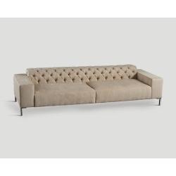 Sofa czteroosobowa, pikowana - beżowa DB004820