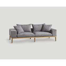 Sofa trzyosobowa z podstawą z drewna z recyklingu - londyński szary DB004722