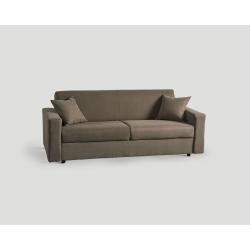 Rozkładana sofa trzyosobowa - szarobrązowa DB003712