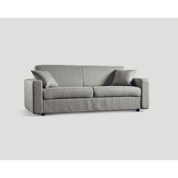Rozkładana sofa trzyosobowa - szary betonowy DB003711