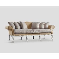 Sofa trzyosobowa - juta i ecru DB002970