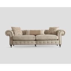 Sofa czteroosobowa - pikowana, ecru DB002598