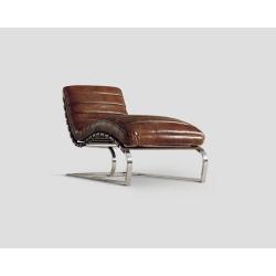 Szezlong skórzany - cygaro vintage DB001718