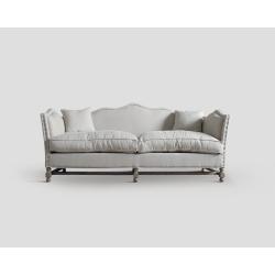 Sofa trzyosobowa - dębowa, ecruDB001652