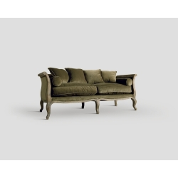 Sofa trzyosobowa - dębowa , opalizująca oliwa DB001327