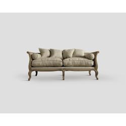 Sofa trzyosobowa - dębowa, ecru DB001326