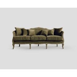 Sofa trzyosobowa - dębowa , opalizująca oliwa DB001255