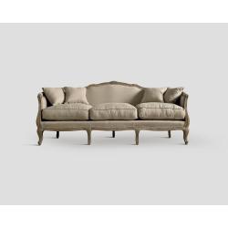 Sofa trzyosobowa - dębowa, ecru DB001254