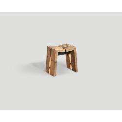 Stołek z drewna z recyklingu DB004509