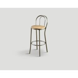Stołek barowy metalowo - drewniany DB004186