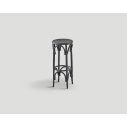Stołek barowy, bukowy - czarny vintage DB004097
