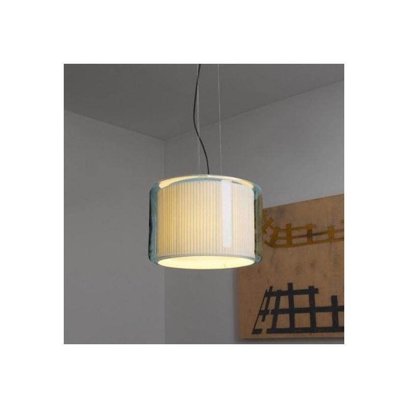 Lampa wisząca Mercer 44 Natural cotton ribbon