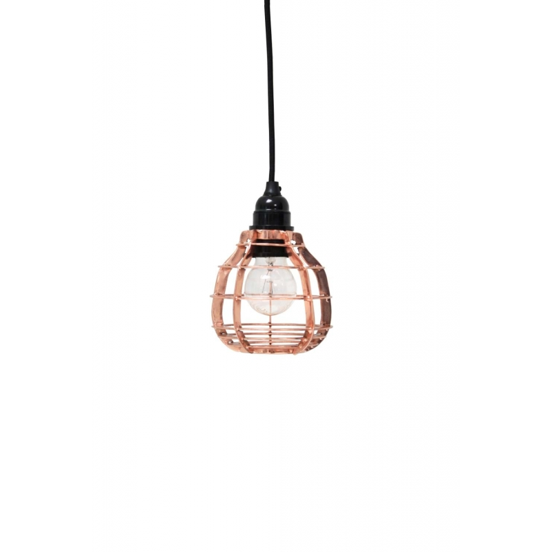 Lampa lab miedziana z włącznikiem
