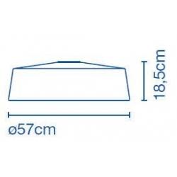 Lampa sufitowa Soho C 57 LED Stone Grey