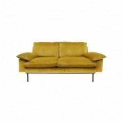 Sofa 2-osobowa aksamitna w...