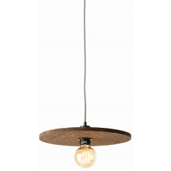 Lampa wisząca korkowa ALGARVE 40x1,5cm, ciemny brąz