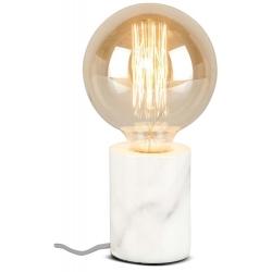 Lampa stołowa ATHENS, oprawka cylindrowa marmur/ 7,5x10cm, biała
