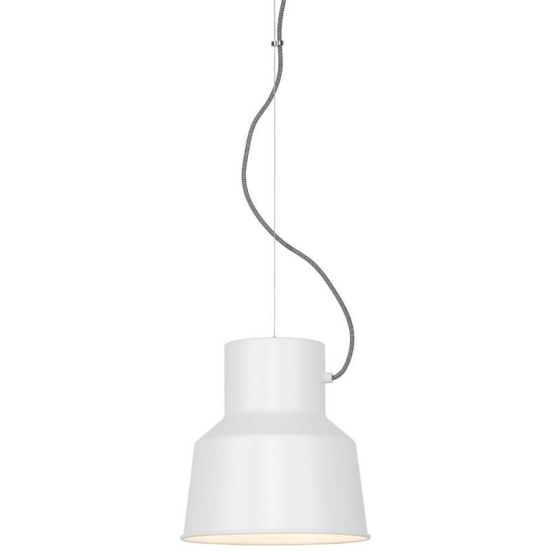 Lampa wisząca BELFAST żelazna/ abażur 25x26cm, biały