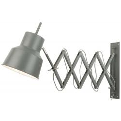 Lampa ścienna BELFAST żelazna/ h:42, l:50-90cm, szaro-zielony matt