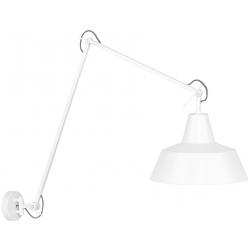 Lampa ścienna z ramieniem CHICAGO biała