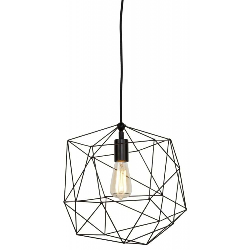 Lampa wisząca COPENHAGEN żelazny stelaż/ 35x36cm, czarny