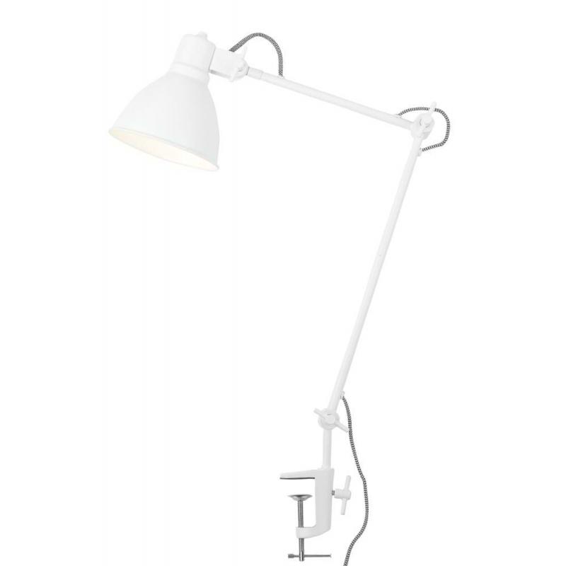 Lampa stołowa DERBY żelazna/ 20x37cm, biały