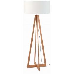 Lampa podłogowa EVEREST bambus 4-nożna 127cm/abażur 60x30cm, lniany biały