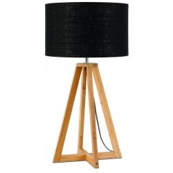 Lampa stołowa EVEREST 4-nożna 34cm/ abażur 32x20cm, lniany czarny