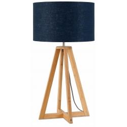 Lampa stołowa EVEREST 4-nożna 34cm/ abażur 32x20cm, lniany blue denim