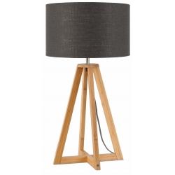 Lampa stołowa EVEREST 4-nożna 34cm/ abażur 32x20cm, lniany ciemnoszary