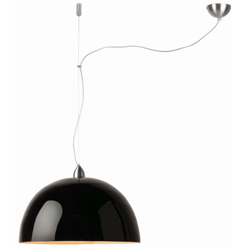 Lampa wisząca HALONG bambus 53x35cm/ 1-abażurowy system, czarny