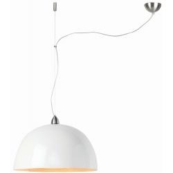 Lampa wisząca HALONG bambus 53x35cm/ 1-abażurowy system, biały