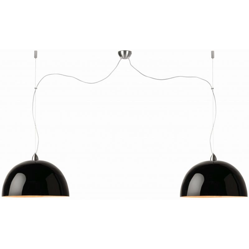 Lampa wisząca HALONG bambus 53x35cm/ 2-abażurowy system, czarny