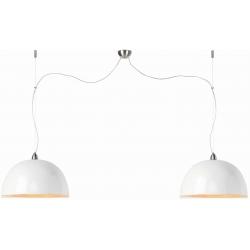 Lampa wisząca HALONG bambus 53x35cm/ 2-abażurowy system, biały