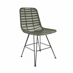 Krzesło rattanowe miętowe