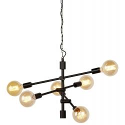 Żyrandol NASHVILLE żelazny 6-ramienny 60x52cm h:48cm, czarny