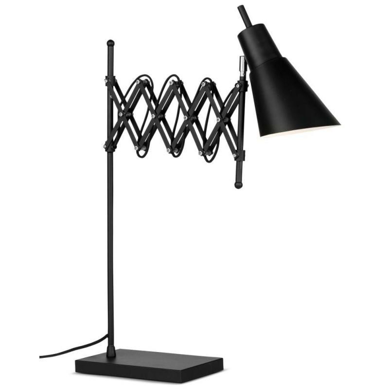 Lampa stołowa OXFORD żelazna h: 64cm/ 28-60cm, czarny
