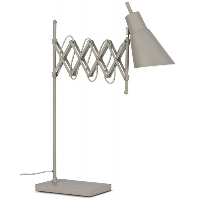Lampa stołowa OXFORD żelazna h: 64cm/ 28-60cm, smoke grey