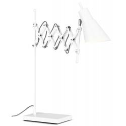 Lampa stołowa OXFORD żelazna h: 64cm/ 28-60cm, biały