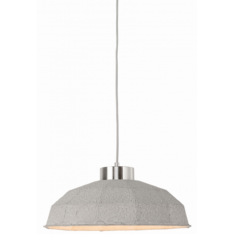 Lampa wisząca YOSEMITE masa papierowa 42x20cm, wielokątny jasnoszary