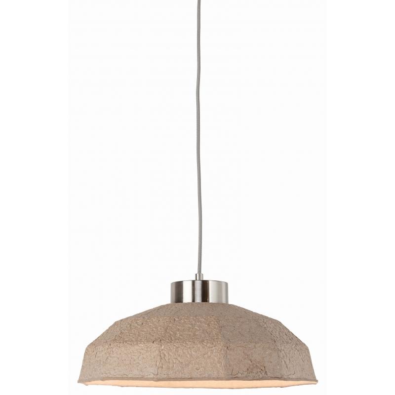 Lampa wisząca YOSEMITE masa papierowa 42x20cm, wielokątny naturalny