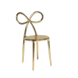 Krzesło Ribbon metalowe złote