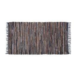 Dywan patchworkowy skórzany